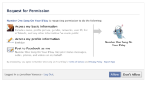 Facebook - Application Auth Dialog